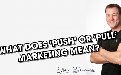 What is 'Push' or 'Pull' marketing?